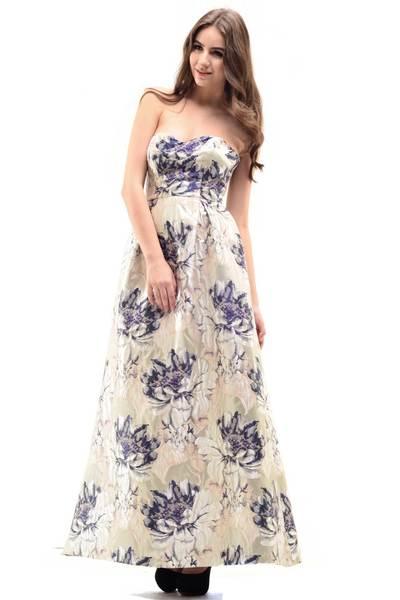 Red blue primrose dress m