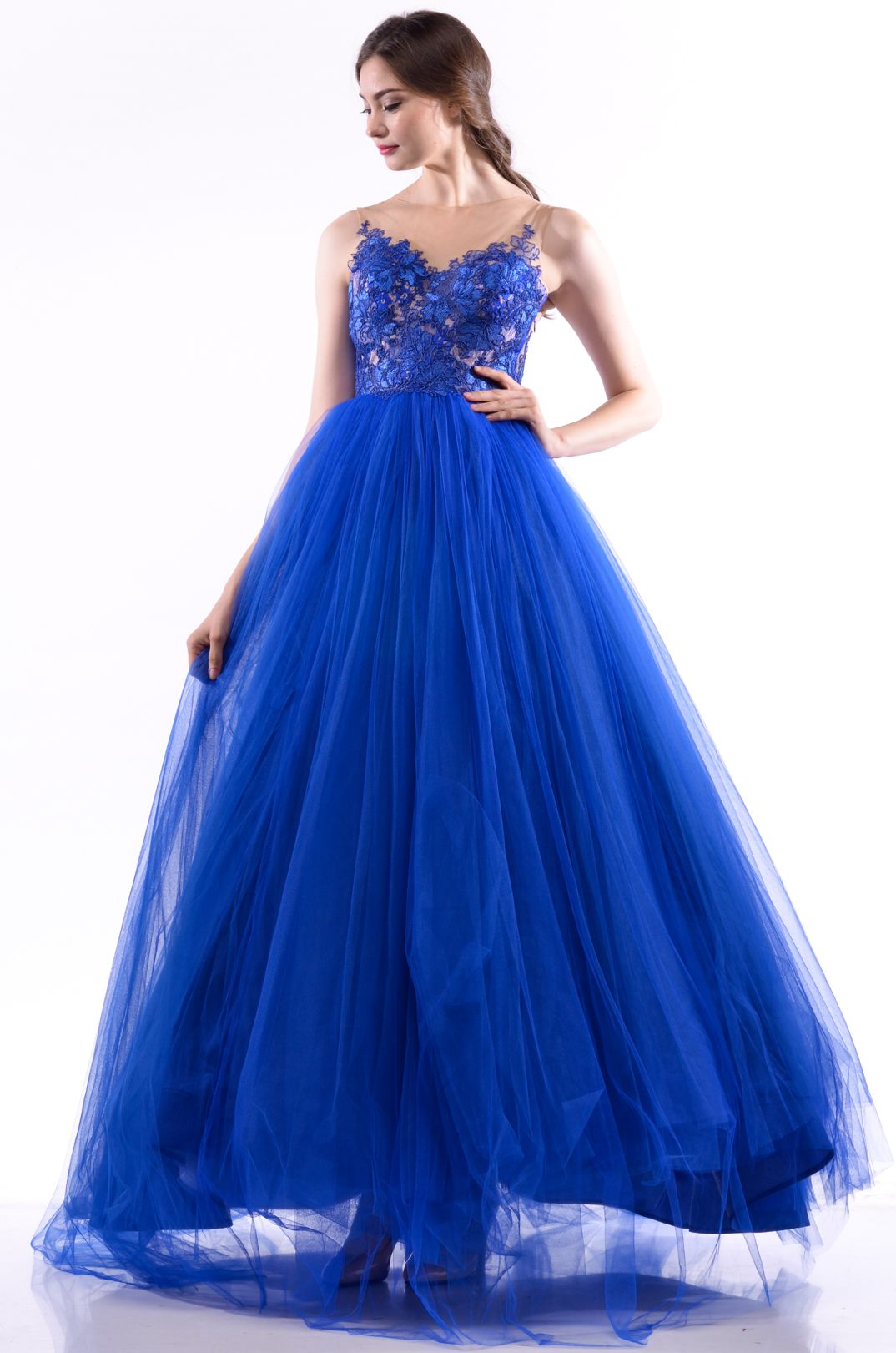 Dramatic Blue Gown