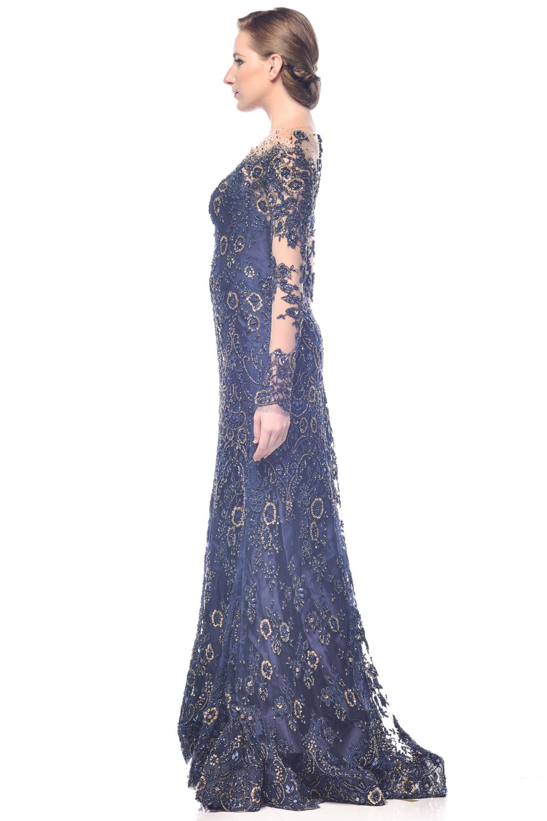Glamour Beaded-Lace Dress