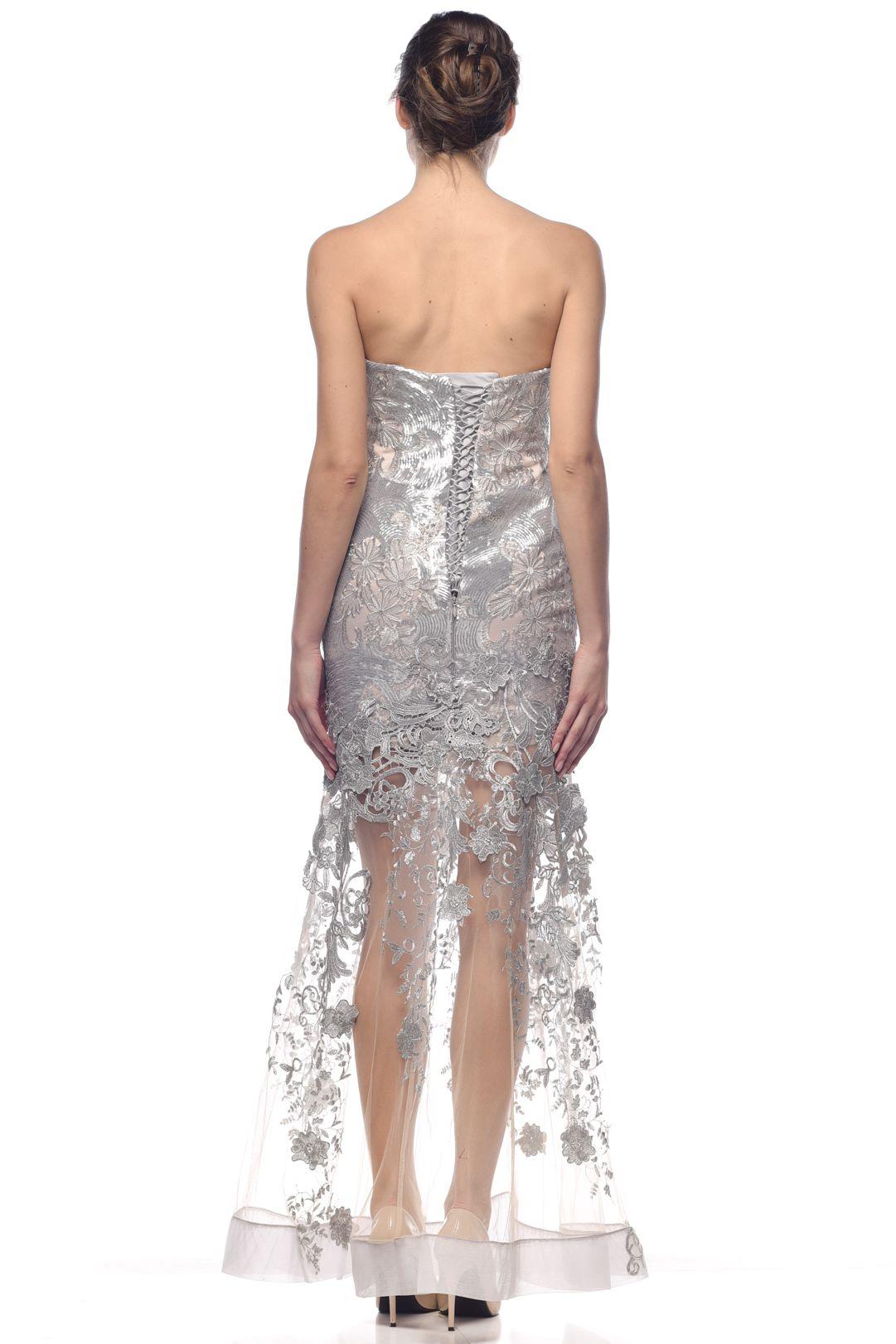 Silver Sheer Brocade